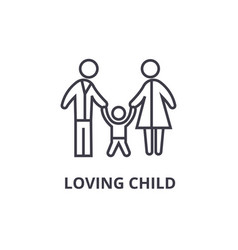 loving child thin line icon sign symbol vector image