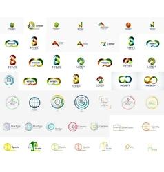 Mega collection of abstract company logo designs vector image