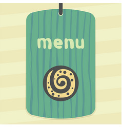 Outline sweet roll cookie icon modern infographic vector