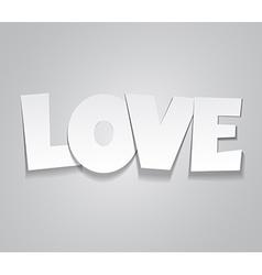 Paper love word vector image