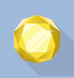 perfect citrine icon flat style vector image