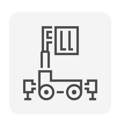 Personal lift icon vector