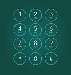 phone keypad vector image