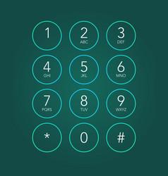 Phone keypad vector