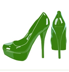 Picture of women shoe on white background vector