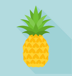 Pineapple icon with long shadow vector