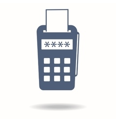 Pos terminal icon payments methods Processing of vector