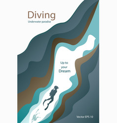 poster for diving club vector image