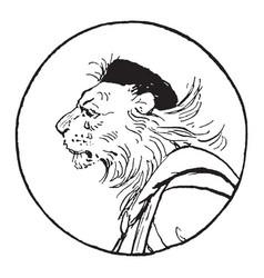 reynard the fox king noble vintage vector image