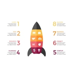 Rocket infographic diagram chart graph vector