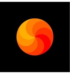 Scope rainbow in shades orange spiral swirling vector