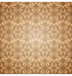 Seamless beige pattern wallpaper in Victorian vector image