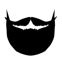 silhouette mustache and beard vector image