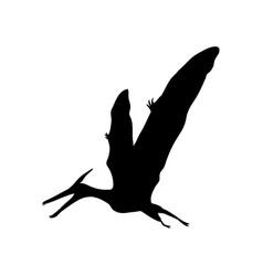 silhouette pterosaur dinosaur jurassic prehistoric vector image