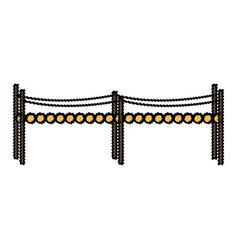 Small bridge wooden fantasy fairy tale element vector