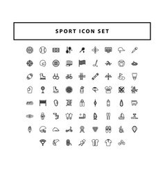 Sport icon set with outline style design vector