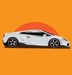 Sports racing car art vector