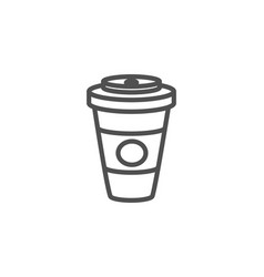 takeaway coffee or tea line icon hot drink vector image