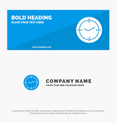 Time timer compass machine solid icon website vector