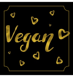 Vegan logo card vector