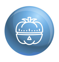 Vegetable kitchen timer icon outline style vector