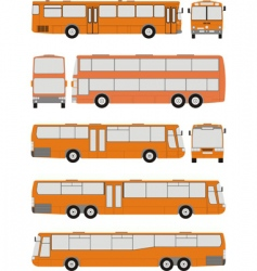 Vehicle bus shapes vector