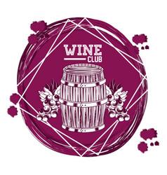 Wine club emblem vector