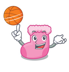 with basketball sock character cartoon style vector image
