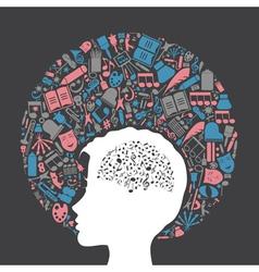 Arts a head2 vector image