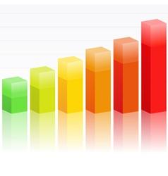 bar graph vector image
