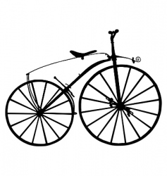 boneshaker bicycle vector image