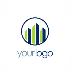 buidling business logo vector image