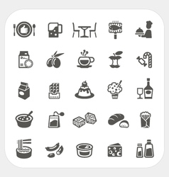 Food and Dessert icons set vector image vector image