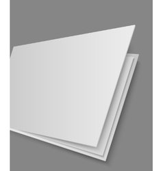 Open books page on gray background vector image