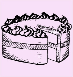 pound cake vector image