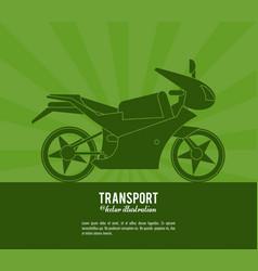 transport motorcycle vehicle design vector image