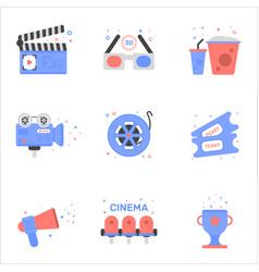 cinema of tickets icon in flat vector image
