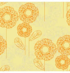 Lacy flowers vector