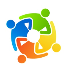 Teamwork together 4 vector image