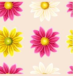 varicolored chrysanthemums seamless vector image