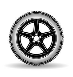 auto wheel black vector image vector image