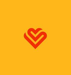 heart symbol valentines day ribbon vector image