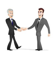 men shaking hands vector image