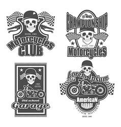 motorcycles vector image vector image