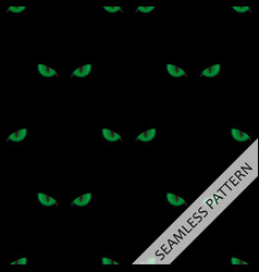 seamless pattern with green cat eyes vector image vector image