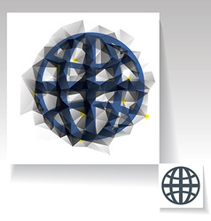 Triangulated planet symbol vector image