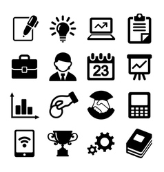Business icons management and human resources vector image vector image