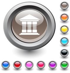 Exchange round button vector image