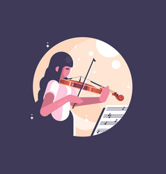 girl playing violin vector image