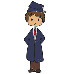 graduated student vector image vector image